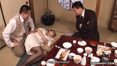 Classy Japanese milf get buzzed and banged