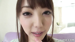 Pretty Japanese teen gets satiated with the cum
