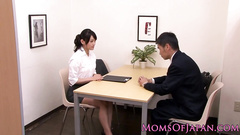Brown haired Asian milf pleasures exciting lesbian sex