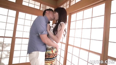 Guy keeps fucking Asian slut until orgasm