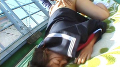 Asian schoolgirl with hairy cunt pounded