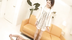Precious Japanese chick hotly undresses and excitingly poses