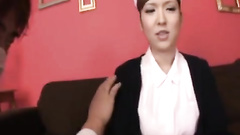 Asian nurse with beautiful breasts gets excitingly fucked