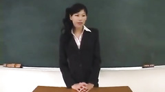 Naughty Asian student guys are unsparingly fucking sexy hot teacher