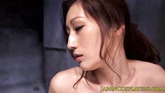 Awesome Asian chick is being steamingly excited from hot fondling