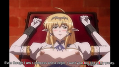 Exciting hentai elf girl gets pleased with rough bondage fuck